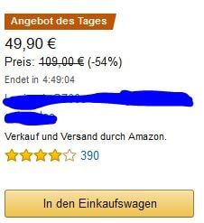 Angebot des Tages Camping auf Amazon