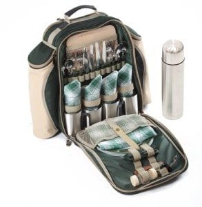 Luxus Picknickrucksack gefüllt von Greenfielt
