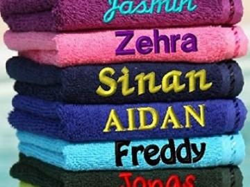 besticktes Handtuch mit Namen