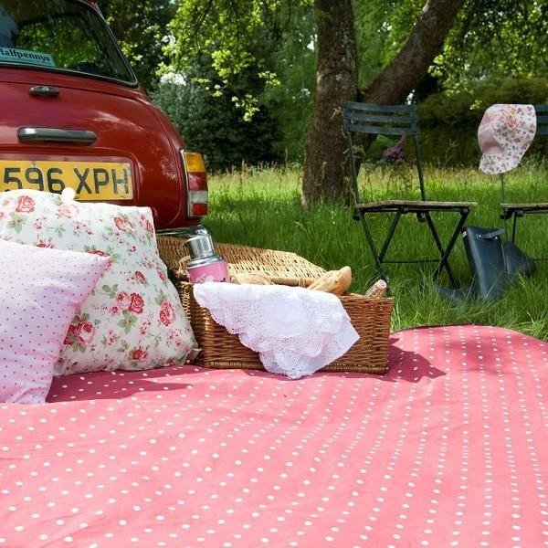Picknick-Strand Decke rot