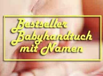 Bestseller bestickte Babyhandtücher mit Namen
