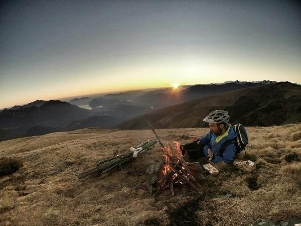 Ausflug mit Isomatte Radtour